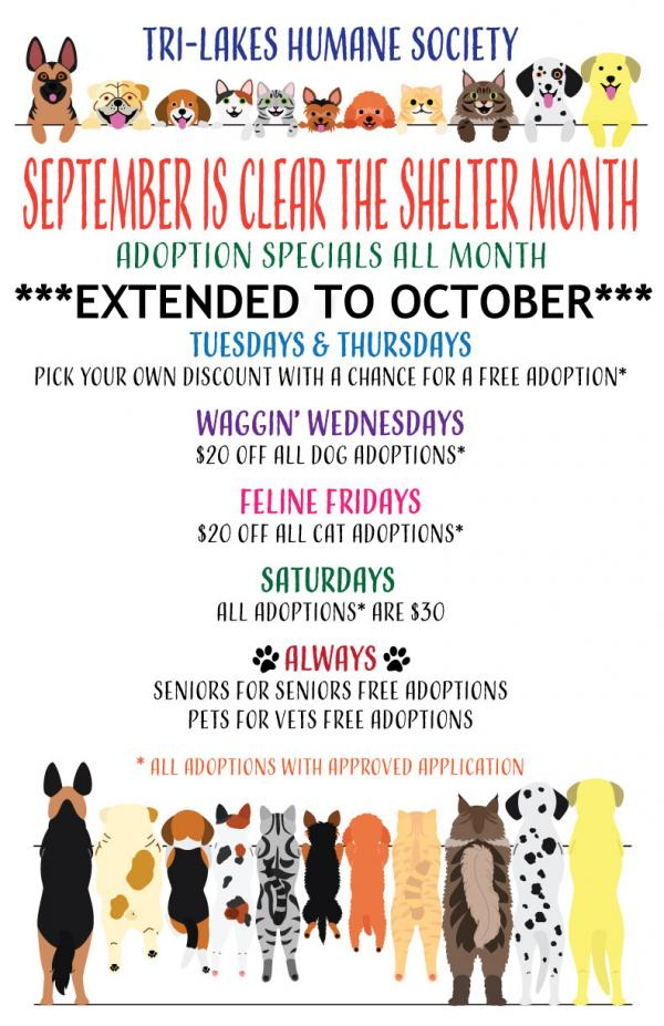 clear the shelter month